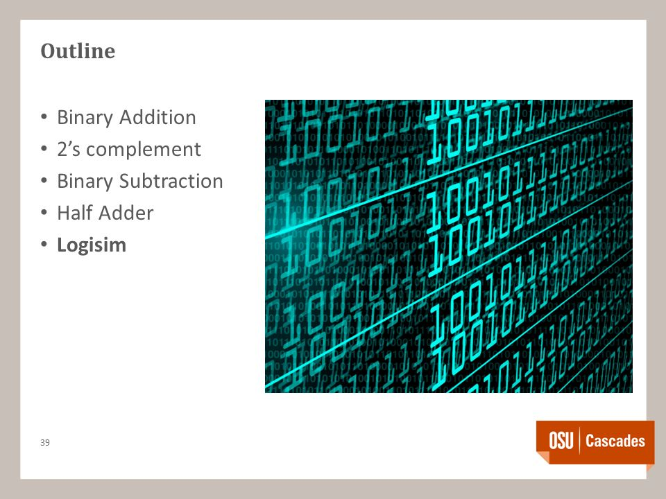 Outline Binary Addition 2's complement Binary Subtraction