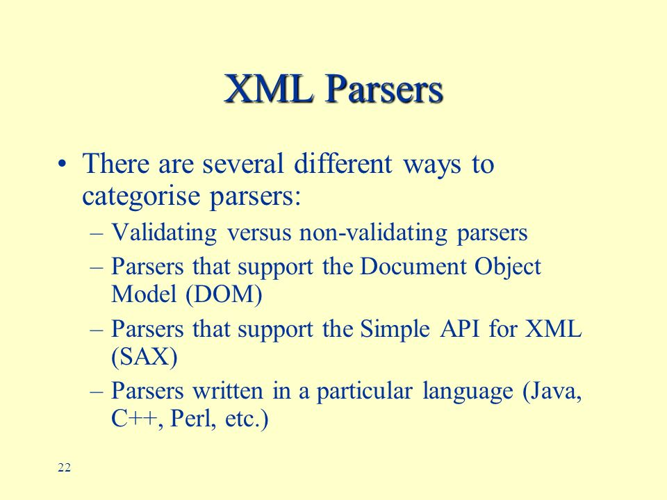 Non validating sax parser example