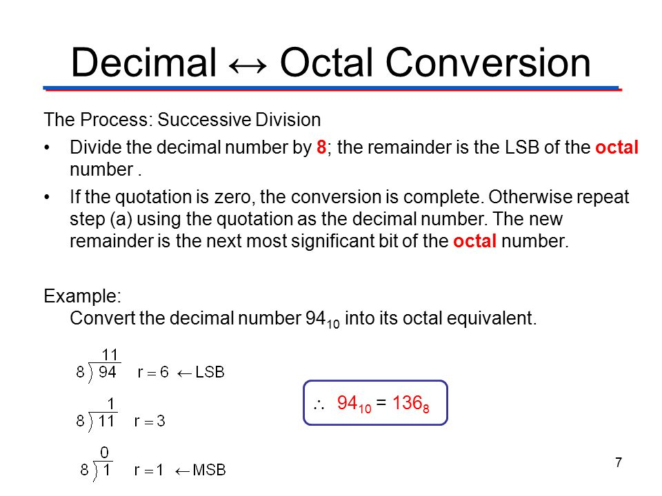 Octal & Hexadecimal Number Systems - ppt video online download