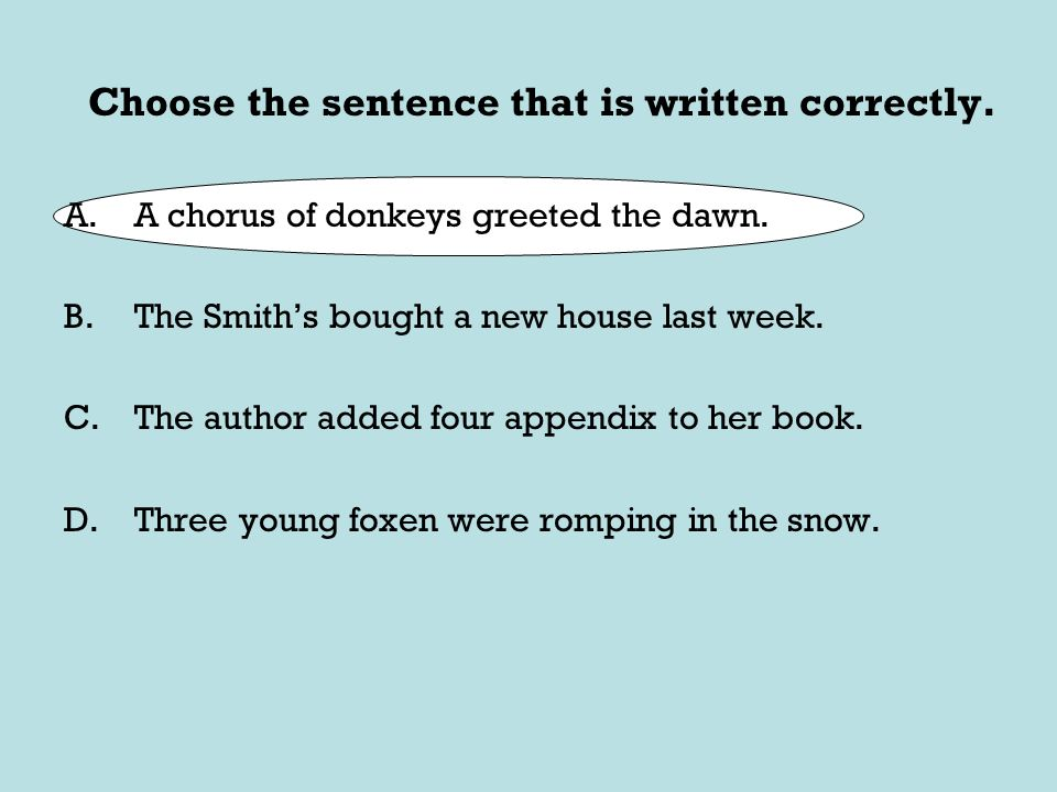 Ahsge language review erwin high school ppt download choose the sentence that is written correctly m4hsunfo