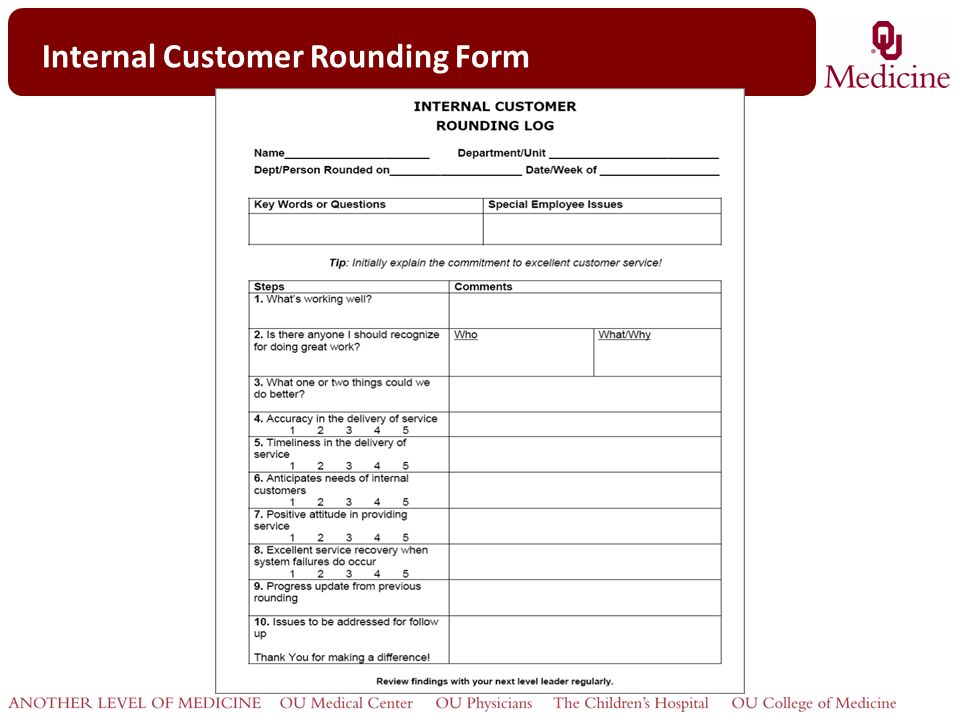 """Rounding for Outcomes """"Internal"""" Customers - ppt video online download"""