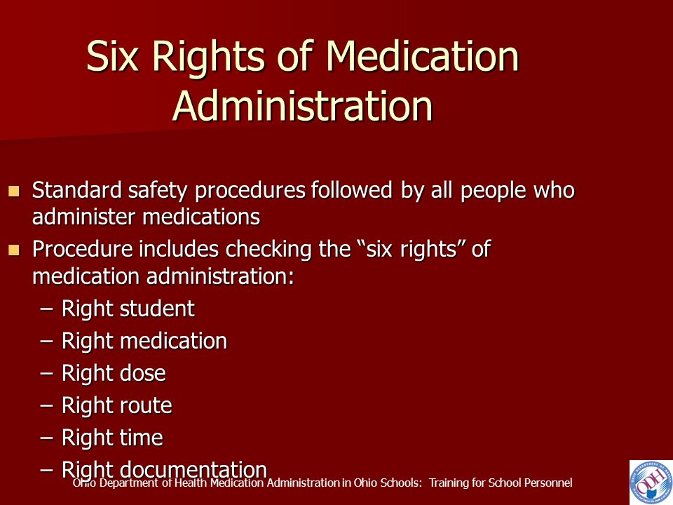 six rights of drug administration