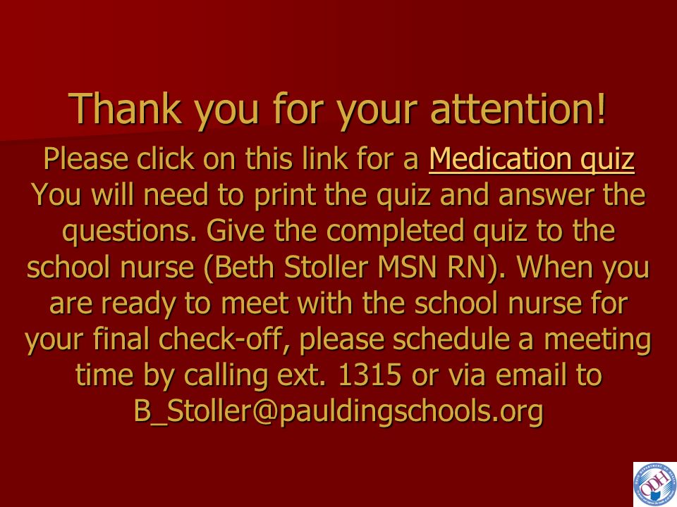 Medication Administration in Ohio Schools: Training for