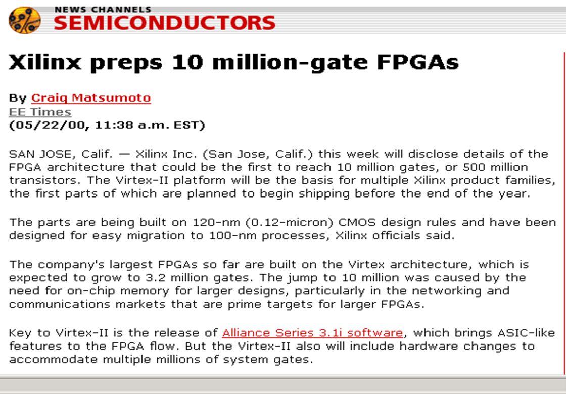 Reiner Hartenstein University Of Kaiserslautern Ppt Download Largest Fpga 68 Billion Transistors 67 Xilinx 10mg 500mt 12 Mic