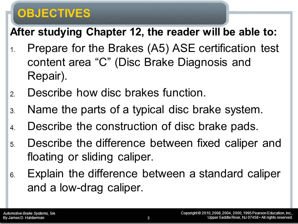 Chapter 12 Disc Brakes Ppt Video Online Download