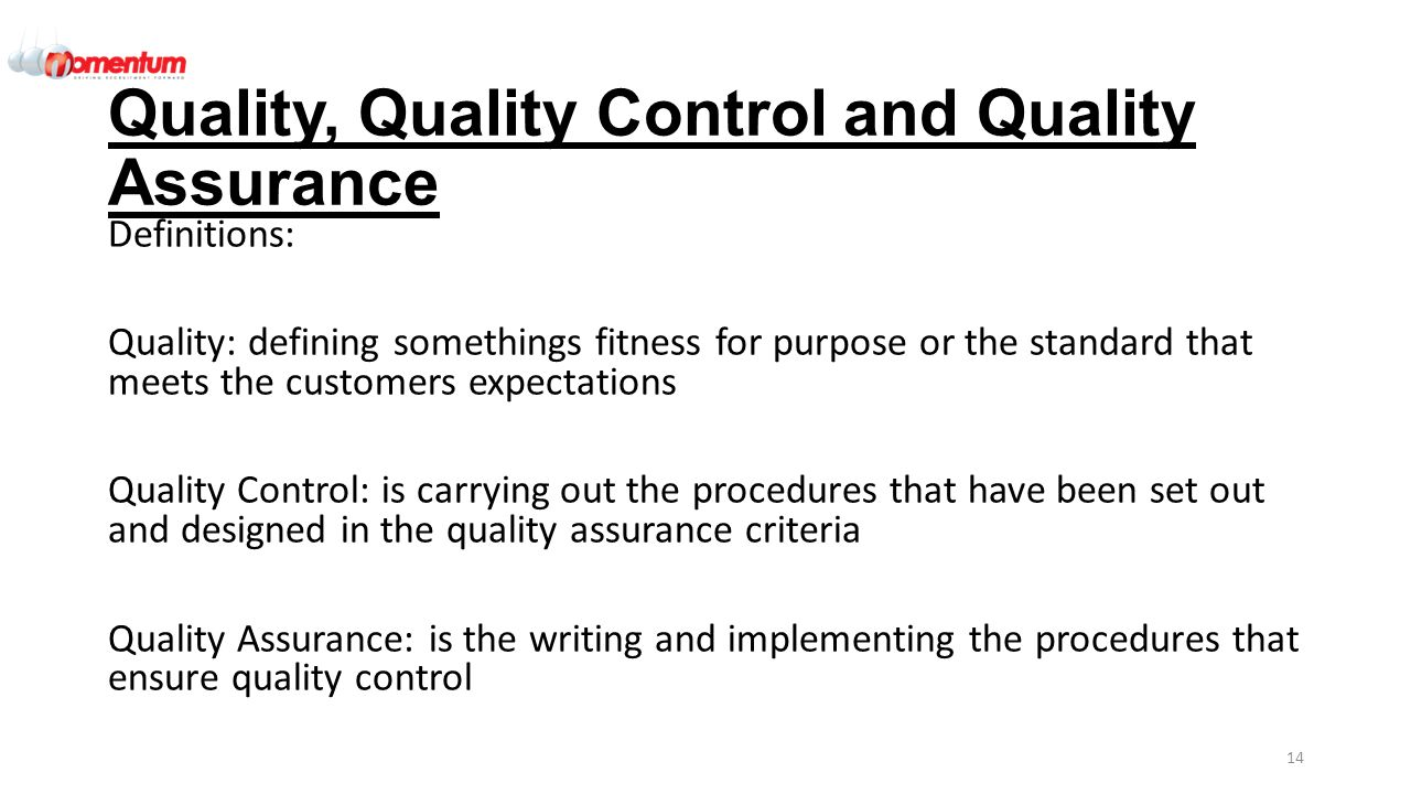 quality control and assurance pdf