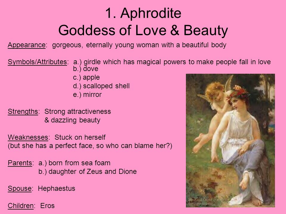 a story of the creation of rain in aphrodite the goddess of love Greek goddess of love, beauty & eternal youth aphrodite is the goddess of love and beauty and according to hesiod's theogony, she was born from the foam in the waters of paphos, on the island of cyprus.