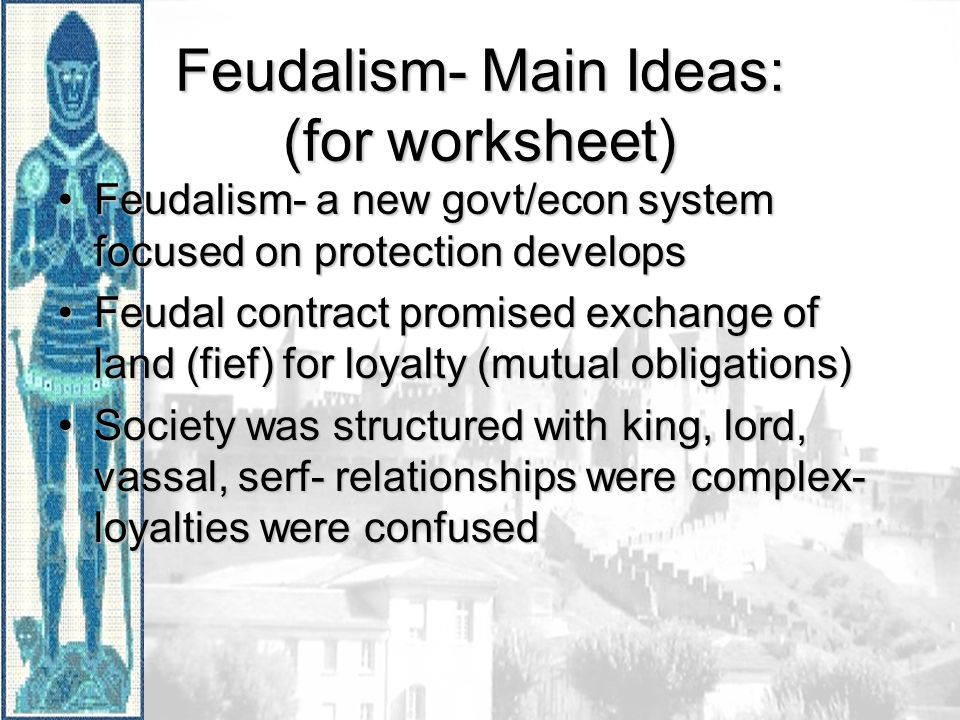 Printable Worksheets feudalism worksheets : The Middle Ages Decline of Roman Empire- Germanic Barbarians took ...