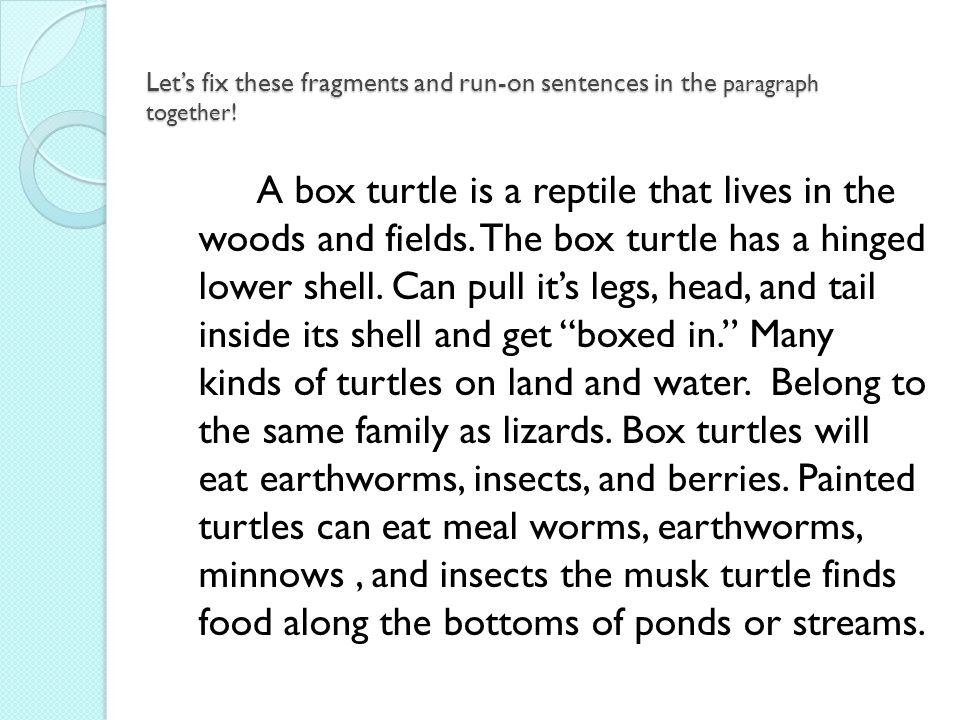 Printable Worksheets fragments and run-on sentences worksheets : Fragments, Run-On Sentences, and Narrative Writing - ppt video ...