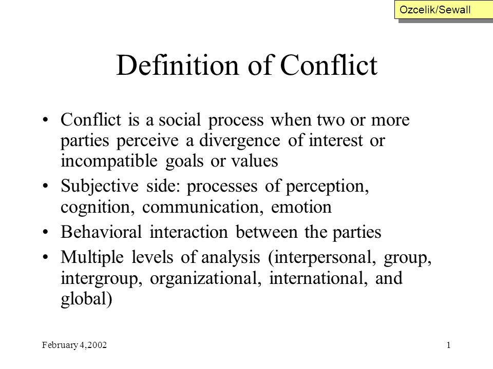 An overview of the interpersonal conflict in human psychology