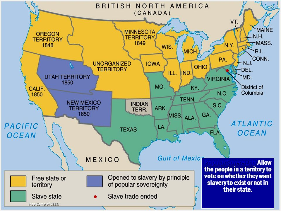 Slavery States Map.Missouri Comp Ppt Video Online Download