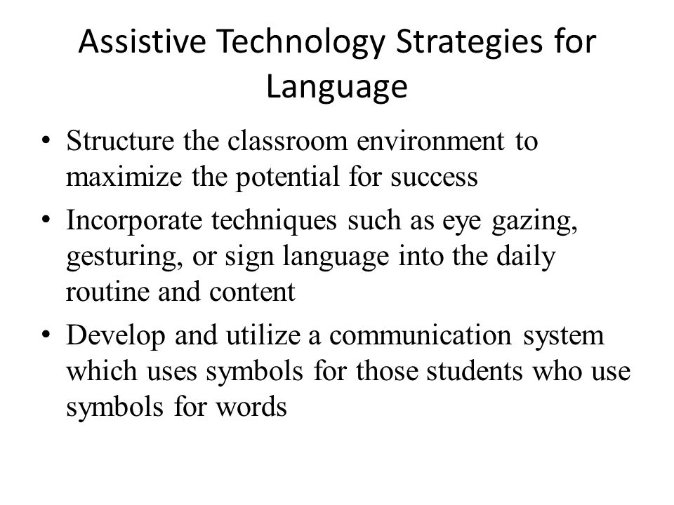 Communication Assistive Technology Group Project Ppt Video Online