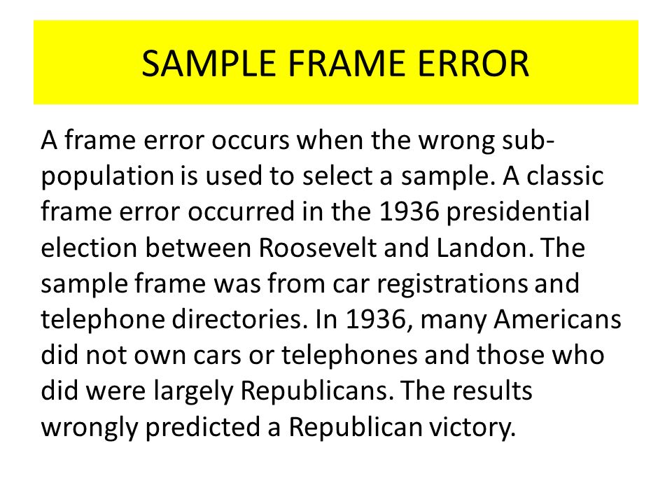 Common sampling errors - ppt video online download
