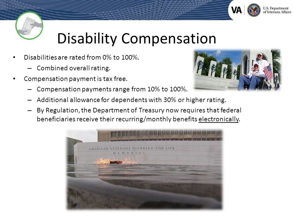 Federal Benefits For 100 Disabled Veterans