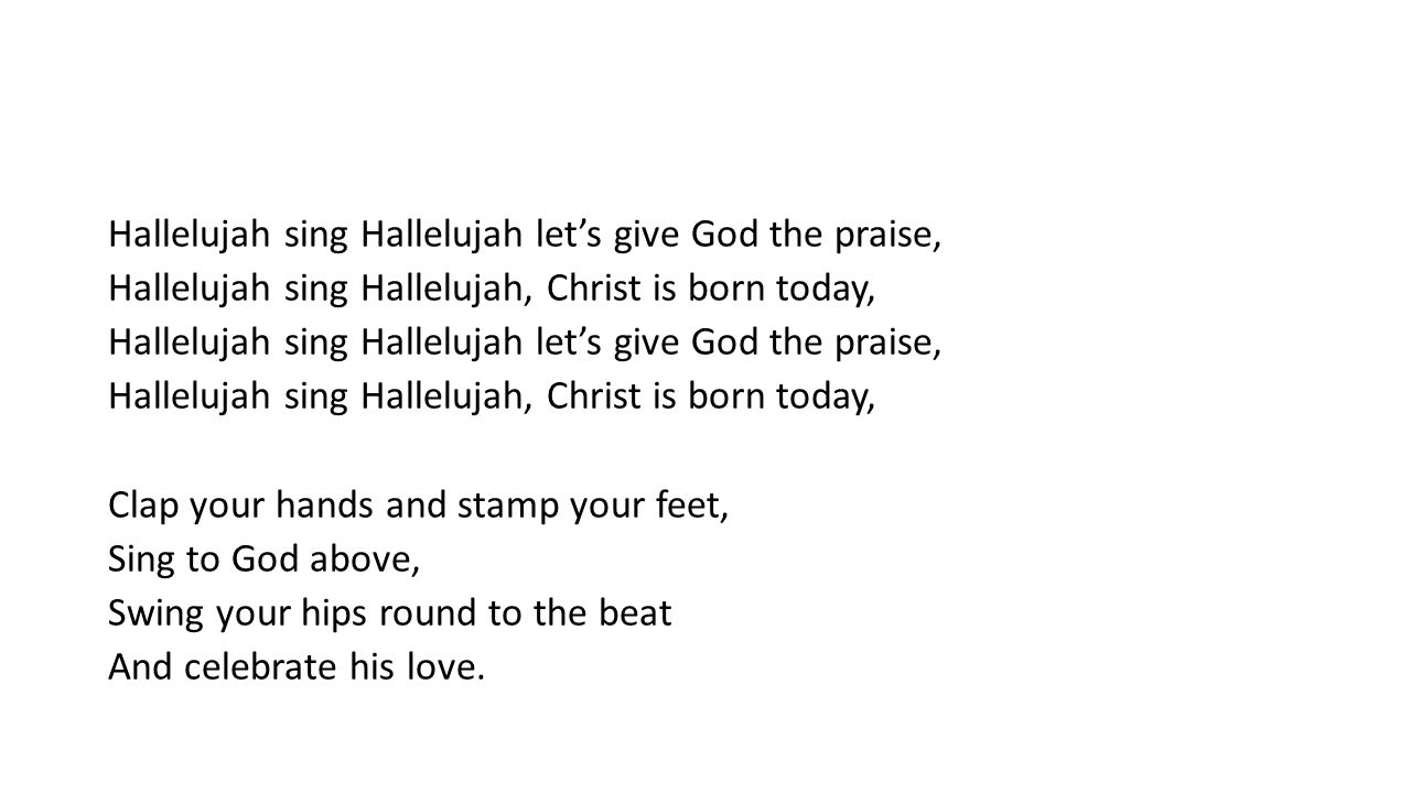 Christmas Hallelujah Lyrics.Welcome 1 Welcome Welcome This Is Our Christmas Story
