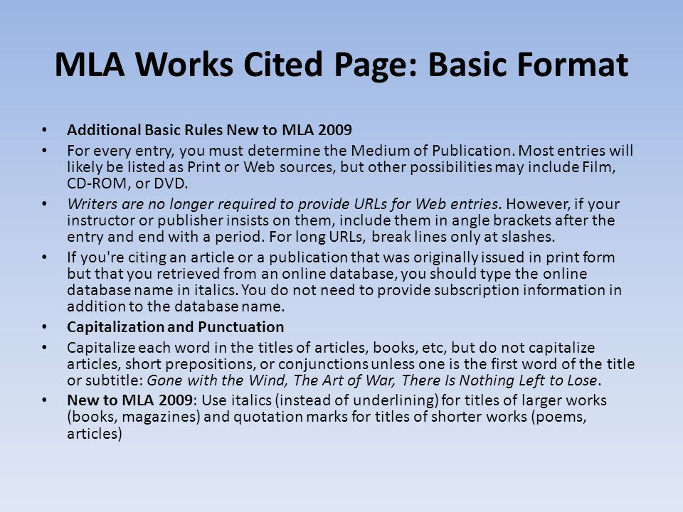 mla workshop gibaldi joseph mla handbook for writers ppt download