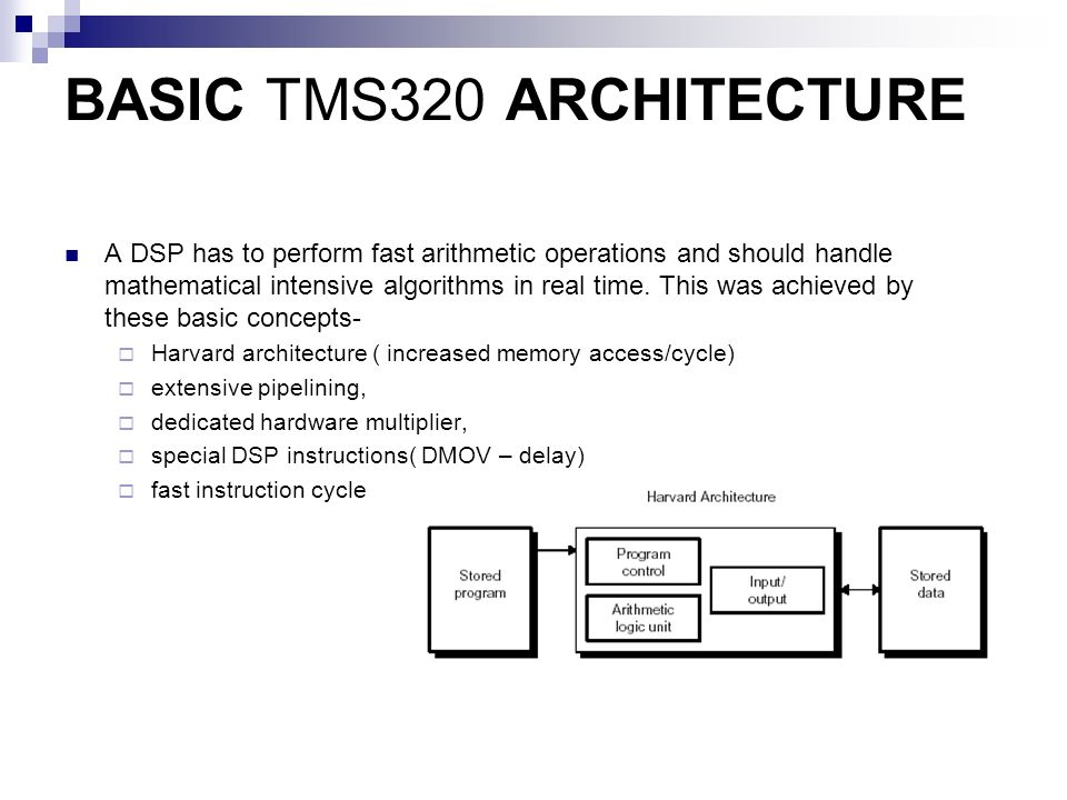 The Evolution of TMS, Family of DSP's - ppt video online
