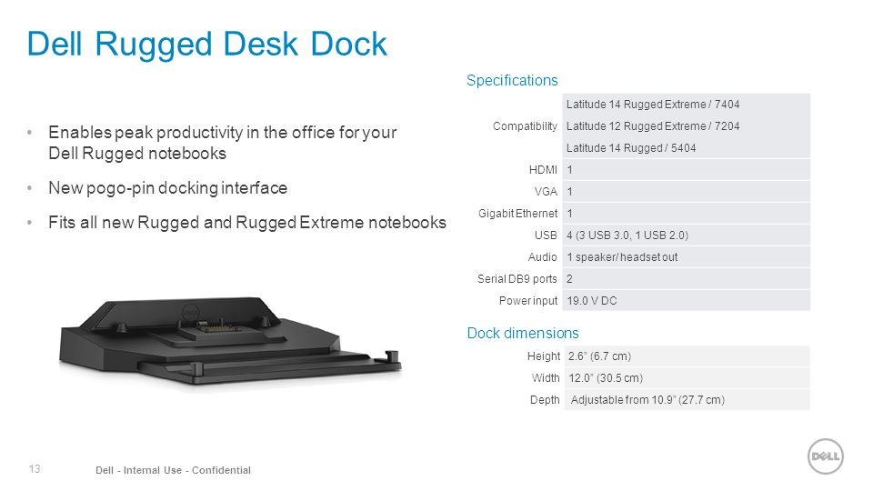 Dell Rugged Desk Dock Specifications Compatibility Laude 14 Extreme 12
