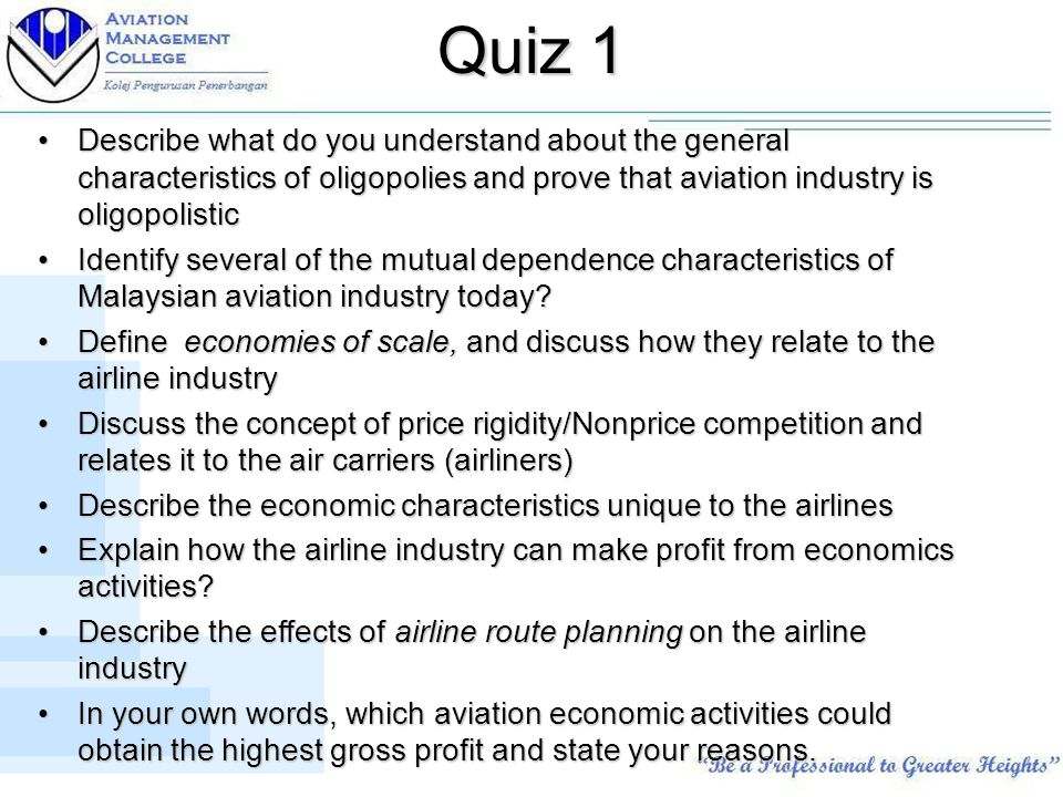 airline industry oligopoly