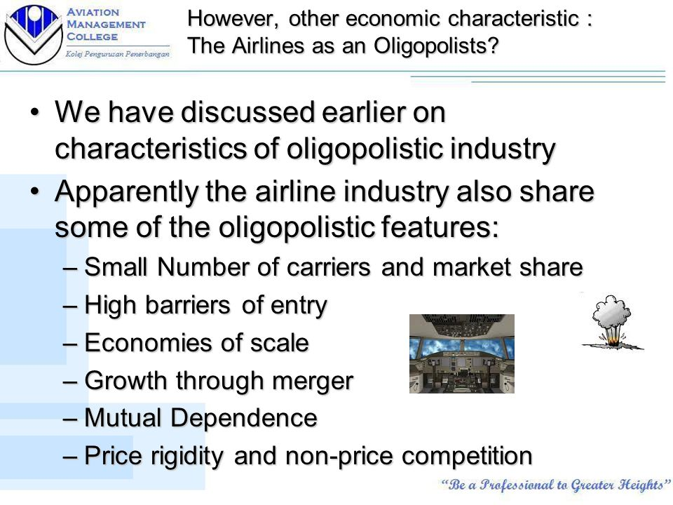 characteristics of oligopoly in economics