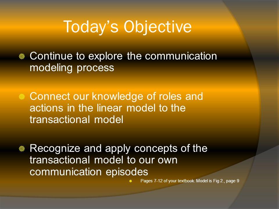 the transactional model of communication