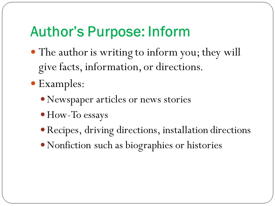 nonfiction articles author's purpose, supporting ideas, scope