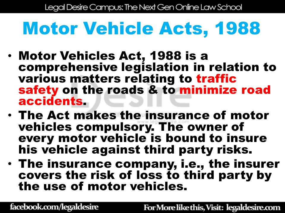 Motor Vehicle As A Civil Wrong Ppt Video Online Download