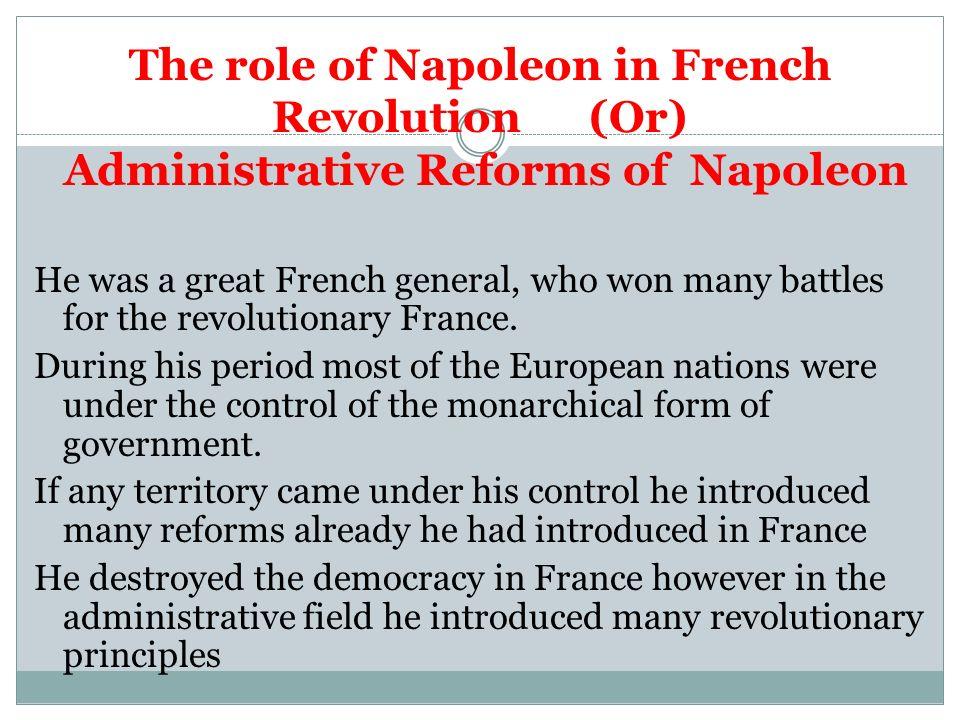 reforms introduced by napoleon bonaparte