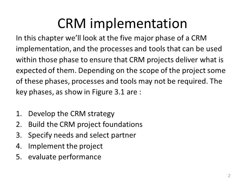 Crm project management ppt.