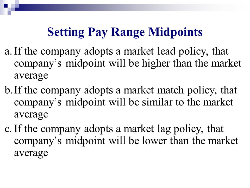 Setting Pay Range Midpoints