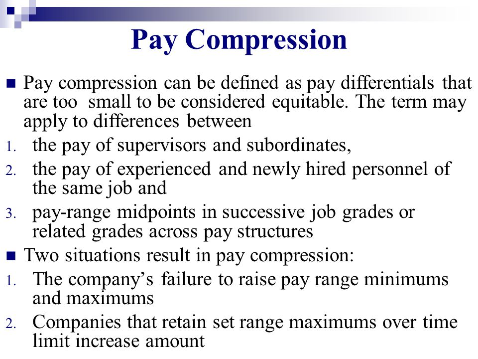 Pay Compression