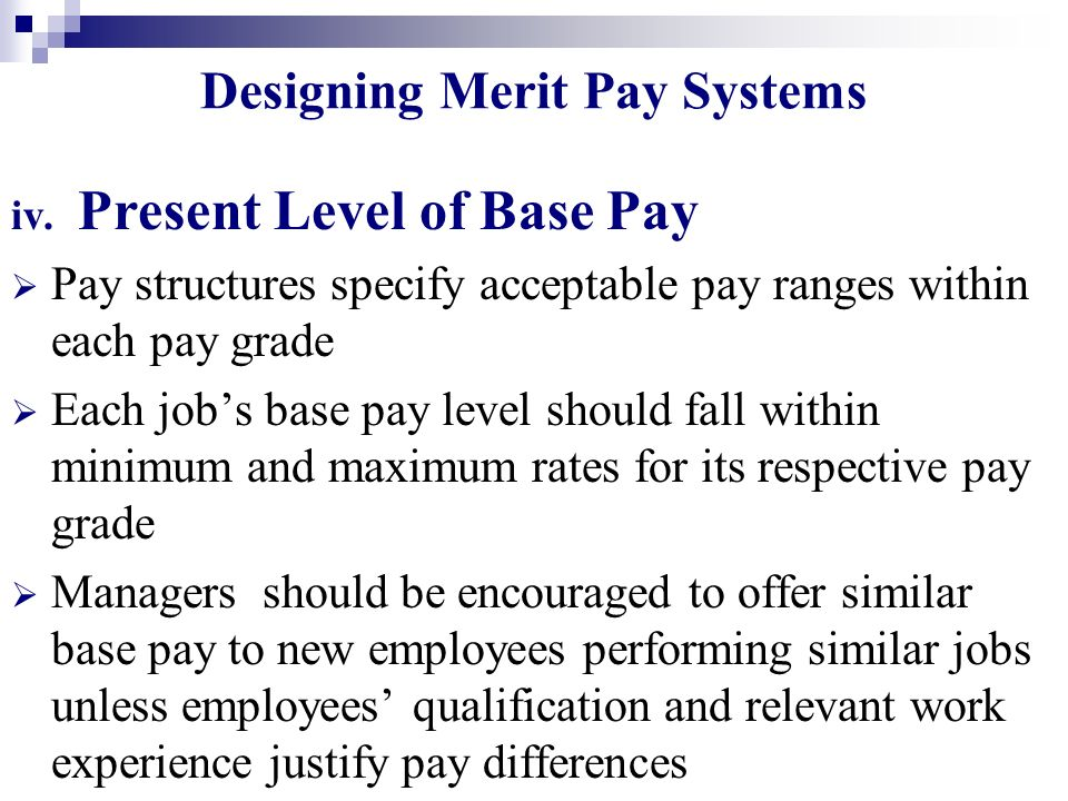 Designing Merit Pay Systems