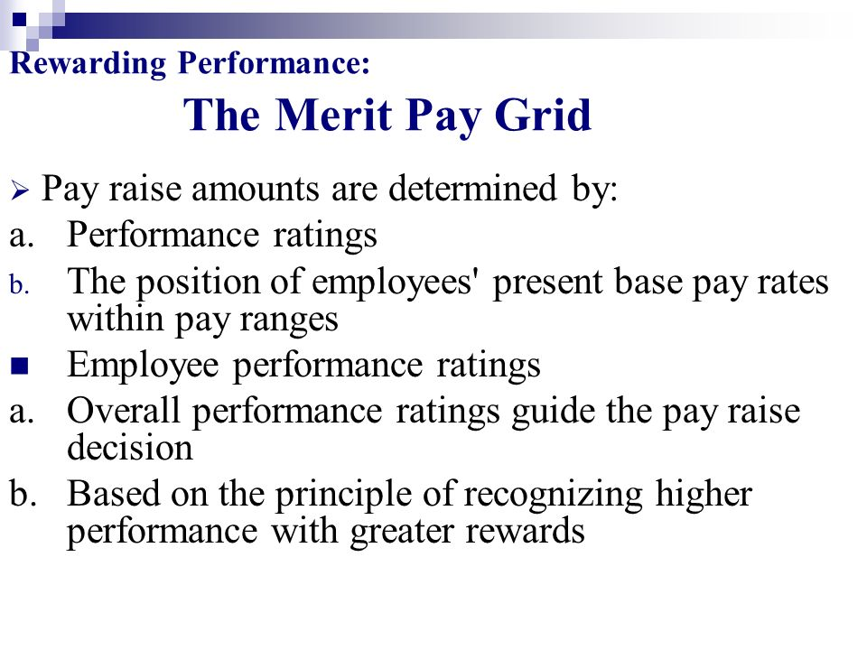 Rewarding Performance: The Merit Pay Grid