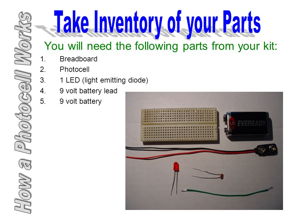 How a Photocell Works. - ppt download
