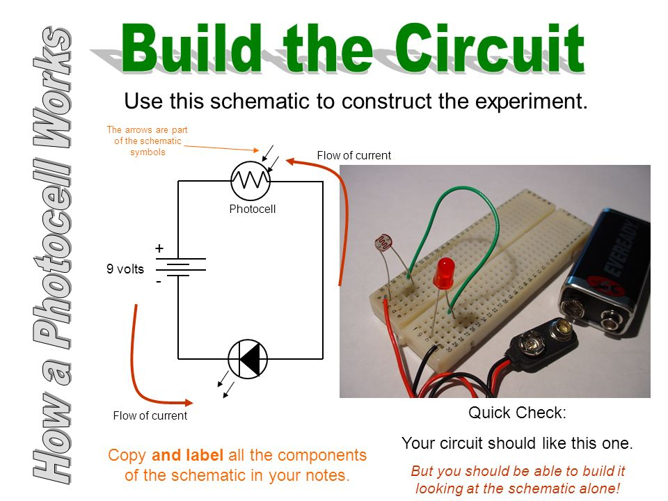 9 volt photocell wiring diagram wiring diagram Photocell Socket Wiring Diagram how a photocell works ppt downloaduse this schematic to construct the experiment