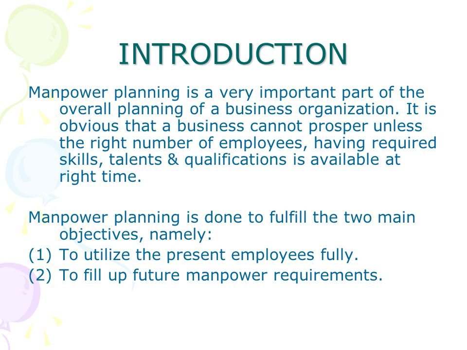 Human resource planning 3. 3 objectives importance of human.