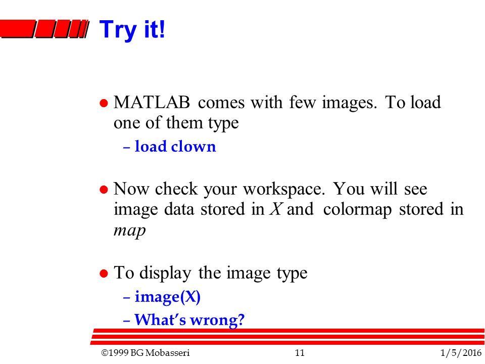 June 14, '99 COLORS IN MATLAB  - ppt video online download
