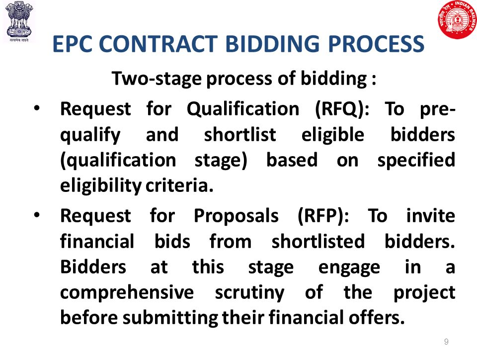 Introduction Of Epc Mode Of Contracting In Railways Ppt Download