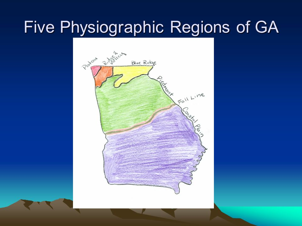 Map Of Georgia Physiographic Regions.Five Physiographic Regions Of Georgia Ppt Video Online Download