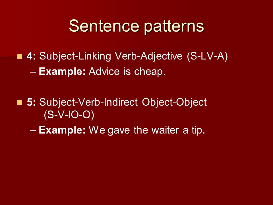 Subject verb adjective sentence examples