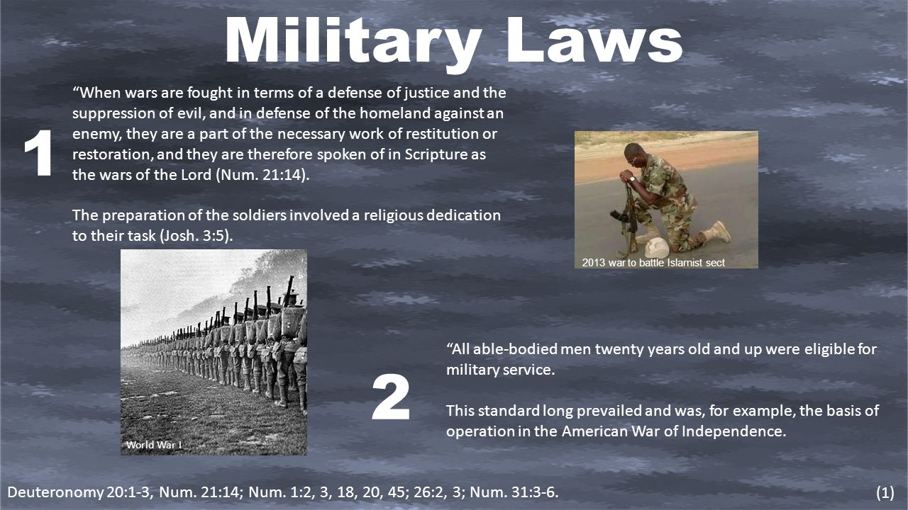 Scripture on war and military service