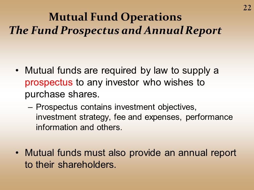 Mutual Funds And Other Investment Companies Ppt Video Online Download