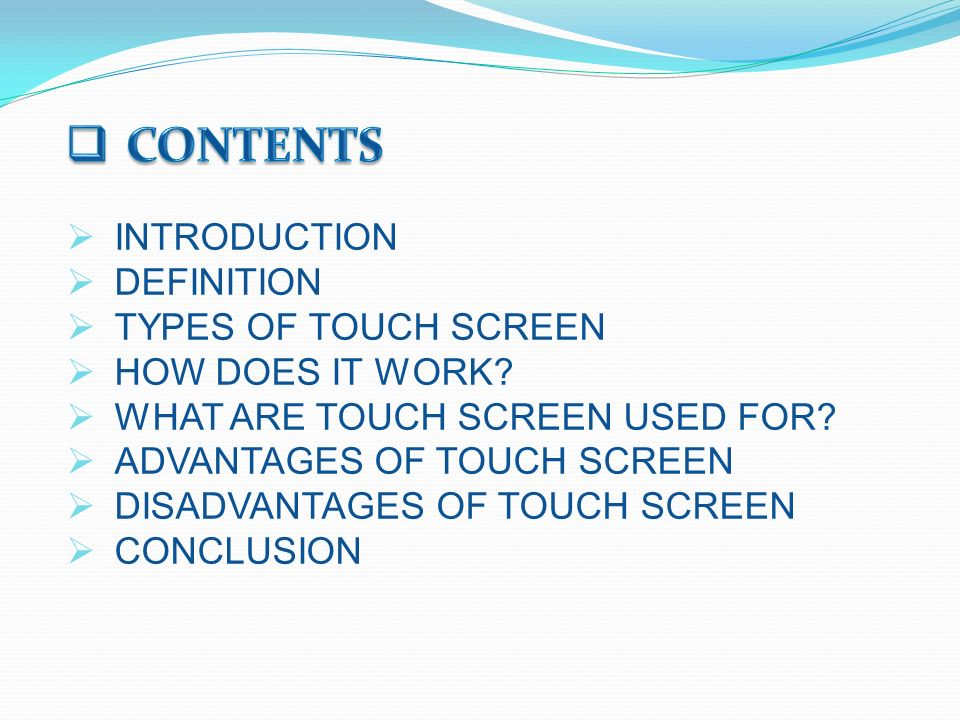 types of touches and their meaning