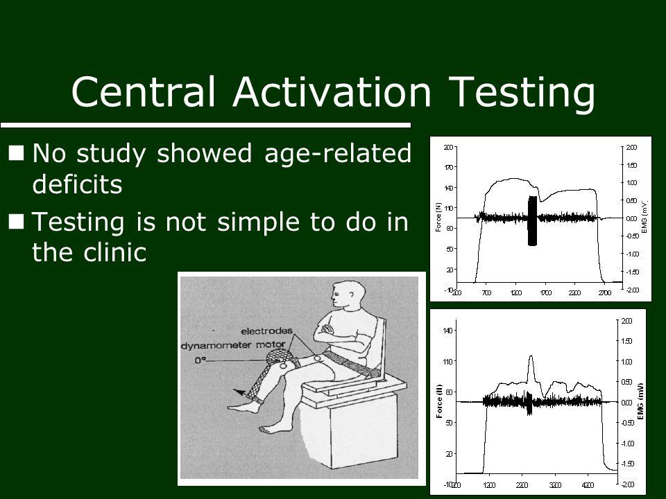 central activation deficits