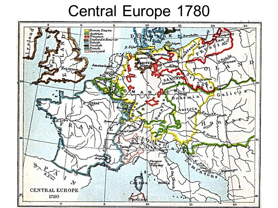 Map Of Europe 1780.Central Europe Ppt Download