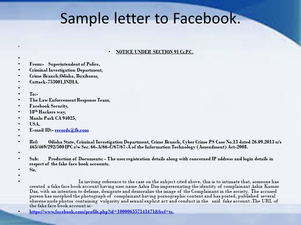 Video Download Ppt Online Into Related - Crime Facebook Investigation