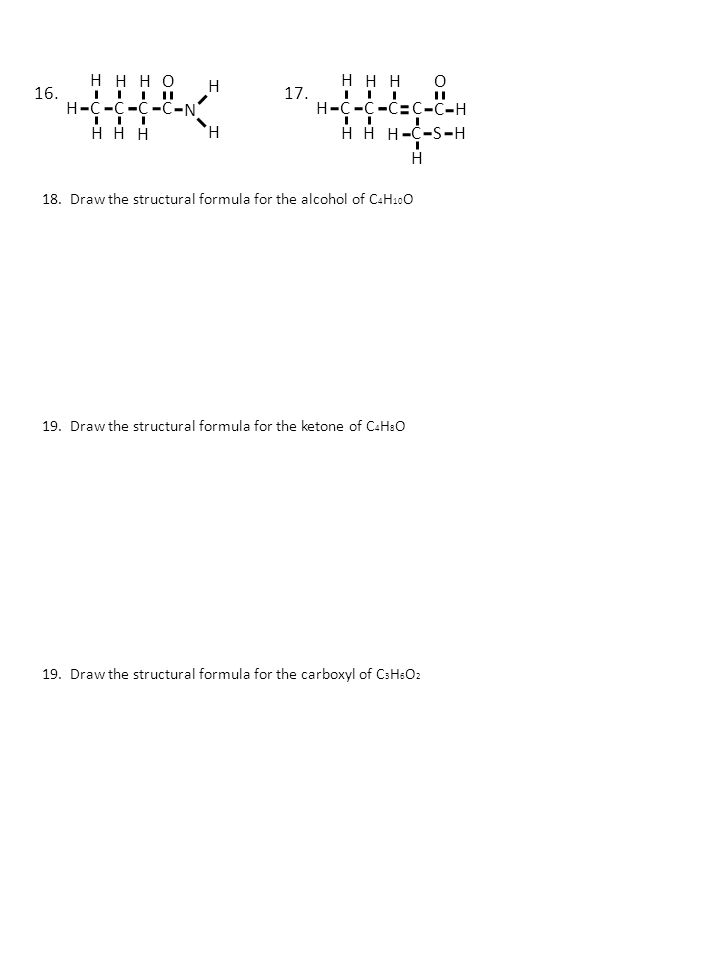 Functional Group Id Worksheet Ppt Video Online Download