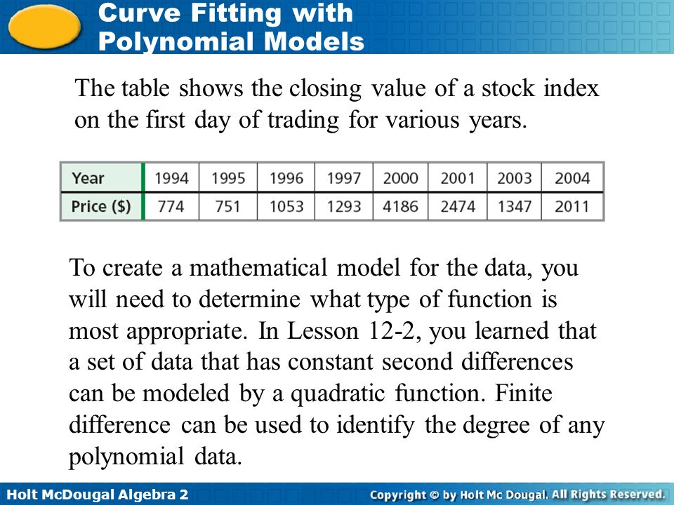 b34522c2c8 Curve Fitting with Polynomial Models Essential Questions - ppt video ...