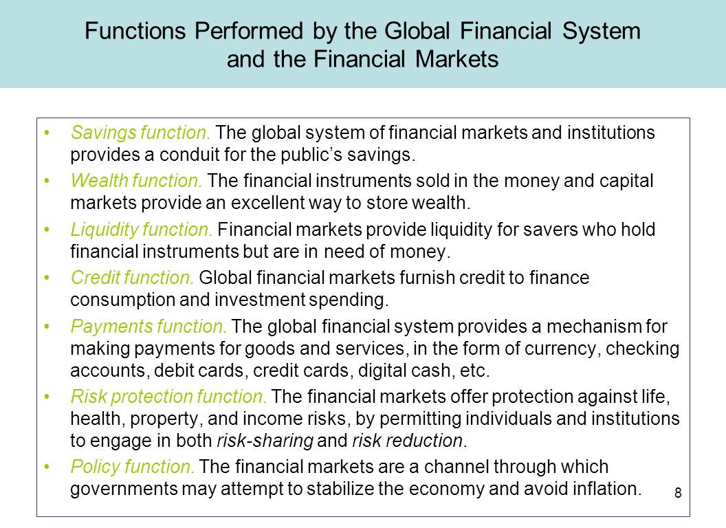 How does the money market function 33
