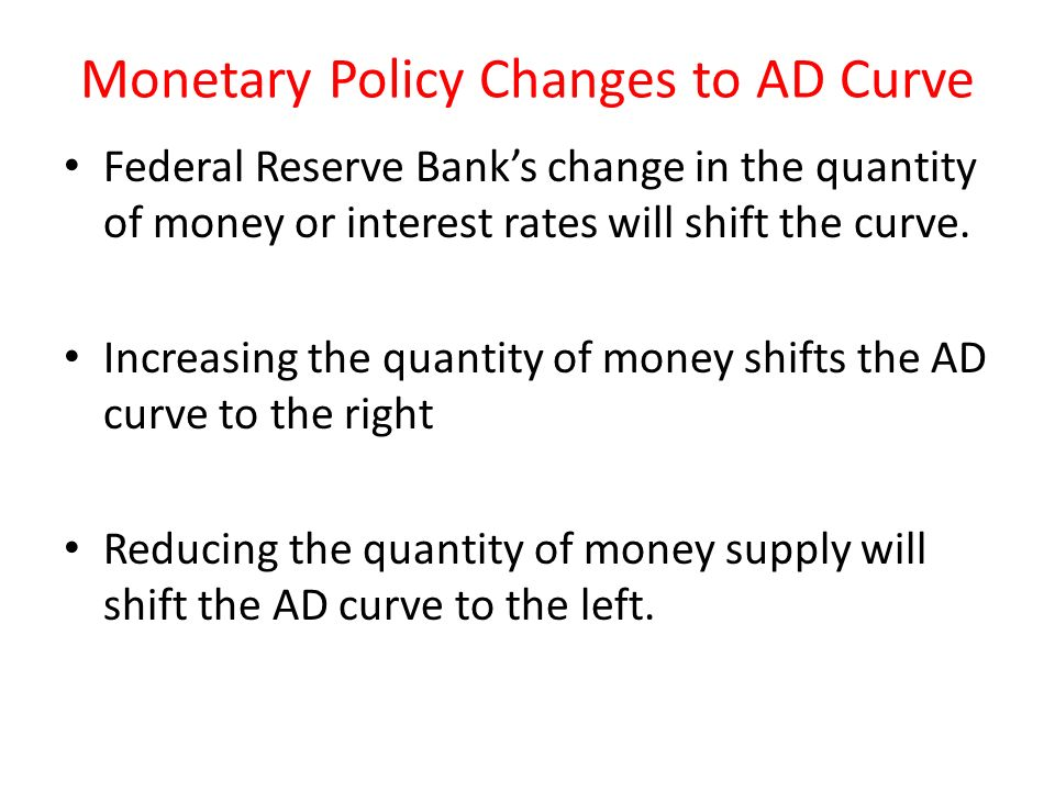 Monetary Policy Changes to AD Curve